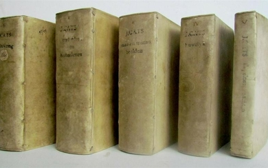 1737-1779 5 volumes ILLUSTRATED EMBLEMATA by J.CATS