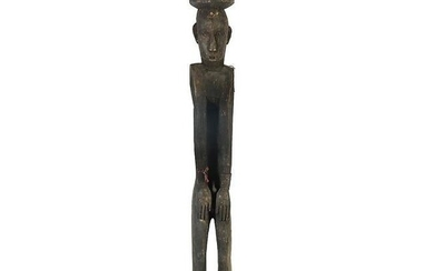19th Century Ifugao Tribe Large Carved Wood Figural