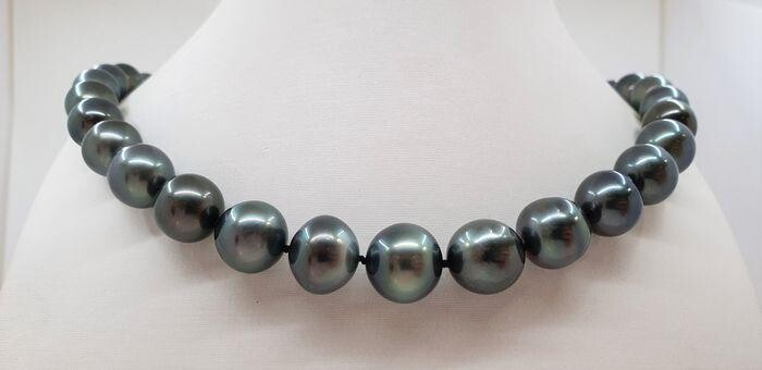 1x14.7mm Peacock Tahitian pearls - Necklace