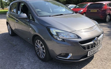 2016 Vauxhall Corsa 1.4 Elite Ecoflex, manual, 5 door, Reg. No. EK66 NYY, finished in grey, mileage circa 12,000, MOT until September 29th 2021, N.B. supplied with V5, two keys and hand book pack