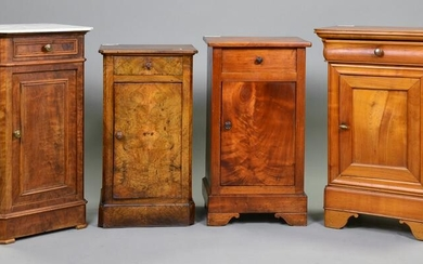4 Assorted French Pot Cupboards / Nightstands