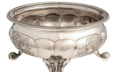 A 19thC Austro-Hungarian silver planter, Ø on top 24,4 cm - weight c. 1.380 g.