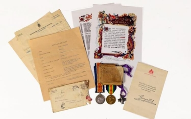 A First World War Casualty Group of Medals, awarded to...
