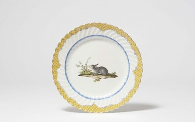 """A Meissen porcelain dinner plate from the """"Japanese service"""" for Friedrich II"""