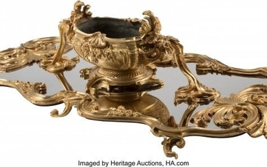 A Monumental French Louis XV-Style Gilt Bronze S