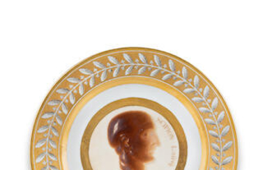 A Sèvres plate from the cameo service for Count Romanzoff, circa 1808