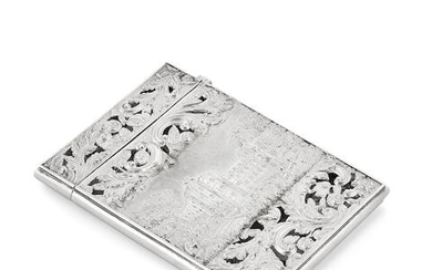 A Victorian twin-view Castle-top card case