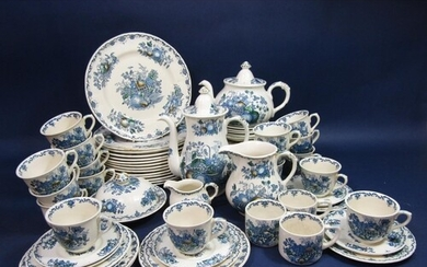 A quantity of Masons Ironstone Fruit Basket pattern wares in...