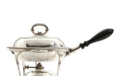 NOT SOLD. An English sterling silver chafing dish. Maker Thomas Bradbury & Sons, 1905. H. 24. Diam 24 cm. – Bruun Rasmussen Auctioneers of Fine Art