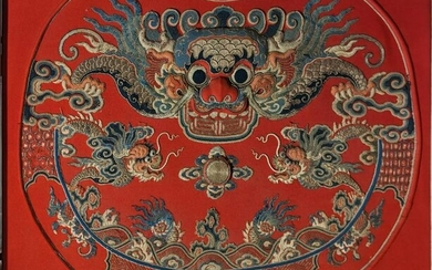 An early 20th century Chinese embroidery of a dragon