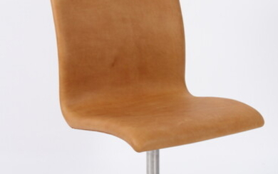 Arne Jacobsen. 'Oxford' office chair/conference chair, upholstered in...