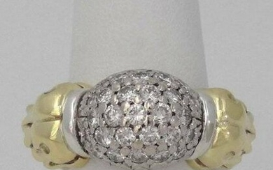 CAVIAR 18K TWO TONE YELLOW GOLD 925 STERLING SILVER