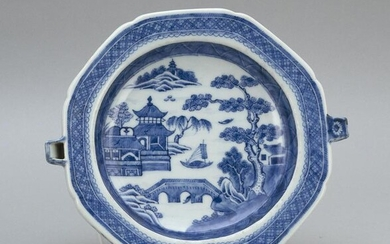 CHINESE EXPORT BLUE AND WHITE NANKING PORCELAIN HOT