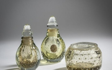 Carlo Scarpa, Two 'A bolle' perfume bottles and a