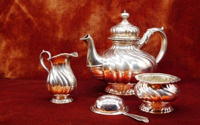 Coffee and tea service - .800 silver - Wilkens & Sohne - Germany - Early 20th century