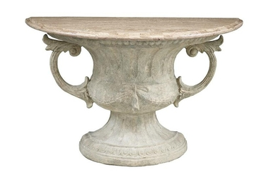 Contemporary Neoclassical-Style Console Table