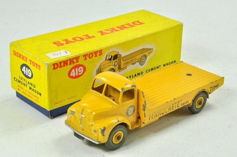 Dinky No. 419 Leyland Cement Wagon. Yellow body and