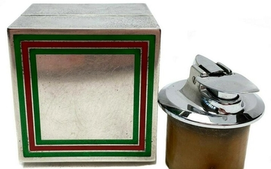 Gucci Sterling Silver Table Lighter