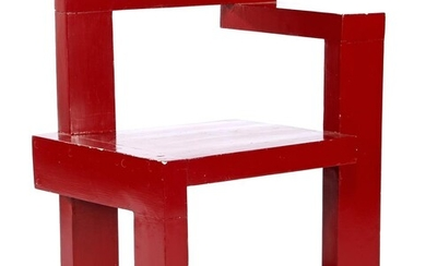 (-), Wooden painted chair, Steltman, in the style...