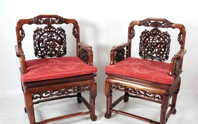 INDOCHINE - INDOCHINA Paire de fauteuil... - Lot 1 - Iegor