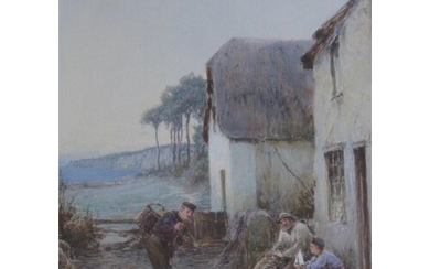 JOHN WHITE (1851-1933) OLD AND THE YOUNG BEER Signed, waterc...
