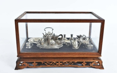 LARGE GROUP OF MINIATURE SILVER TABLE WARES
