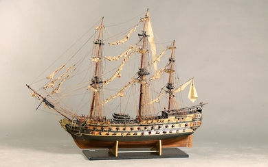 Large Model ship with rigging, 60/1970s, wood...