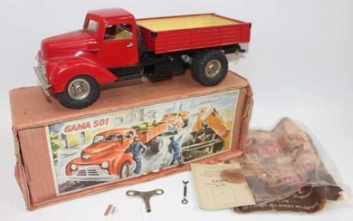 Lot details Gama No.501 battery operated and tinplate tipping...