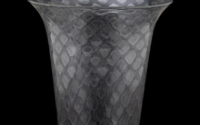 MURANO STYLE HAND-BLOWN COLORLESS GLASS VASE