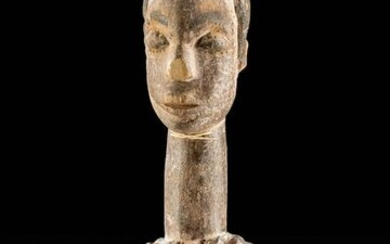 20th C. African Igbo Wooden Chalk Spoon