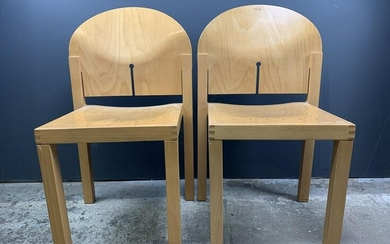 Pair Modernist Design Plywood Side Chairs
