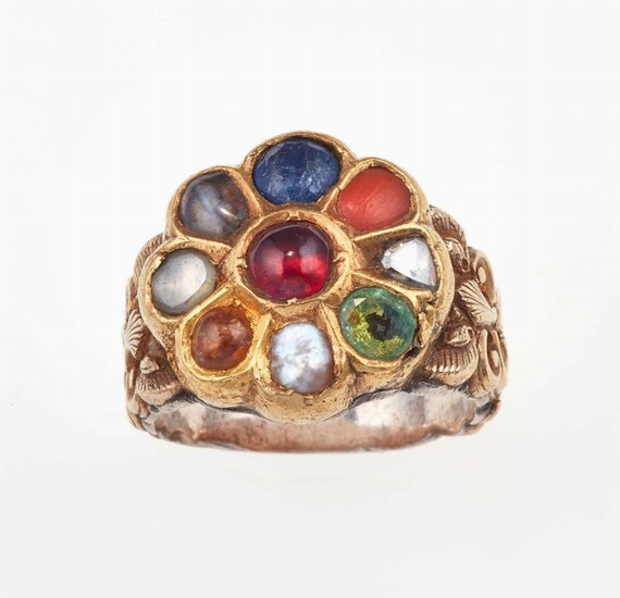 Paste, gold and silver ring