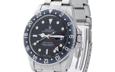Rolex. Very Well Preserved and Desirable GMT-Master Automatic Wristwatch in Steel, Reference 1675, With Sweep Center Seconds and Date