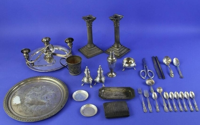 Silver Collection Trays, Salts, Cups, Spoons