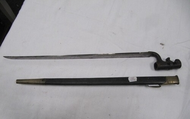 Standard 1853 pattern socket bayonet and scabbard.