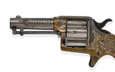 THE JIM FISK CLOVERLEAF: EDWARD STOKES' COLT HOUSE MODEL REVOLVER USED TO KILL JAMES FISK AT THE GRAND CENTRAL HOTEL, 1872.
