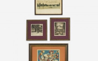 Various Artists - Group, Four (4) Prints