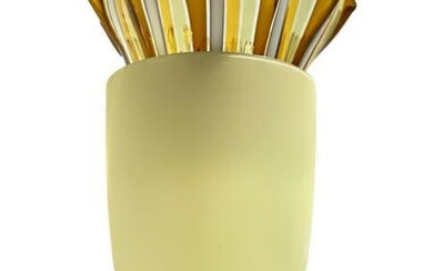 Venini, PLISSE model table lamp in straw yellow with