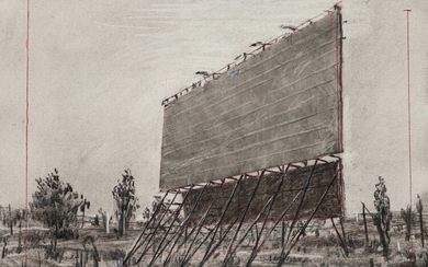 William Kentridge; Drawing from Other Faces (Drive-In Screen)