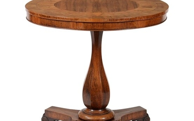 Y A Victorian rosewood and parquetry occasional table