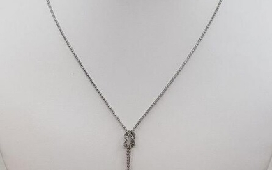 925 Silver - 8x9mm Tahitian Pearl Drops - Necklace