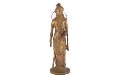 A 19TH/20TH CENTURY JAPANESE BRONZE STANDING FIGURE OF GUANYIN