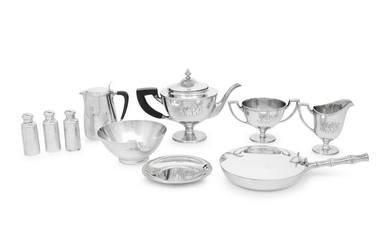 A Collection of Nine Tiffany & Co. Silver Table