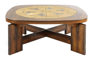 A Danish rosewood brutalist coffee table, §