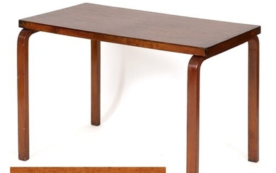 A Finmar bentwood side table, label to underside, 100 cm wid...