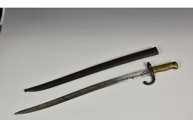 A French 1866 Pattern Chassepot Bayonet, 22½in. (57.2cm.) fu...