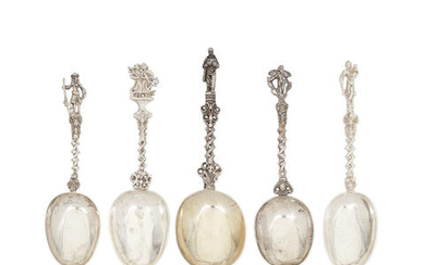 A collection of eight Dutch silver spoons