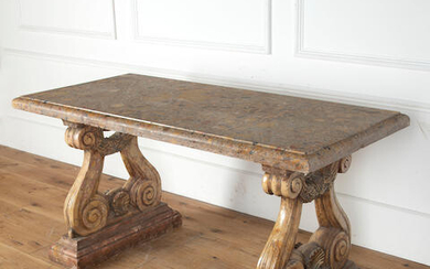 A large marble centre table