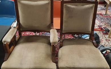 A lovely pair of Late 19th Century show frame Armchairs.