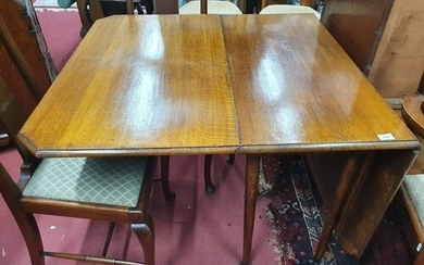 A set of seven Queen Anne style dining Chairs along with a 1...